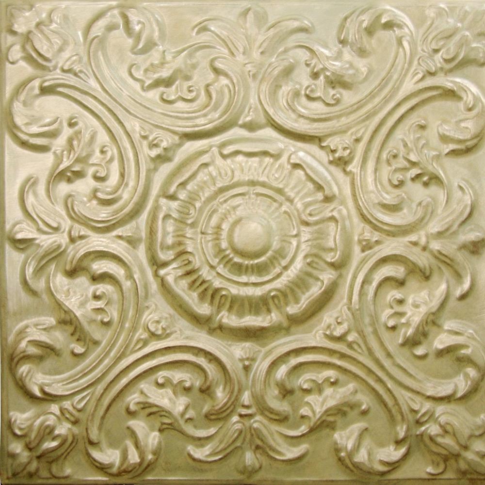 Mini Fluer De Lis Aluminum Ceiling Tile 0605
