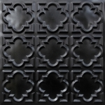 142 Faux Tin Ceiling Tile Glue up 24×24 – Black