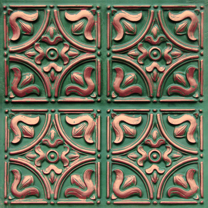 148 copper patina - faux tin ceiling tiles