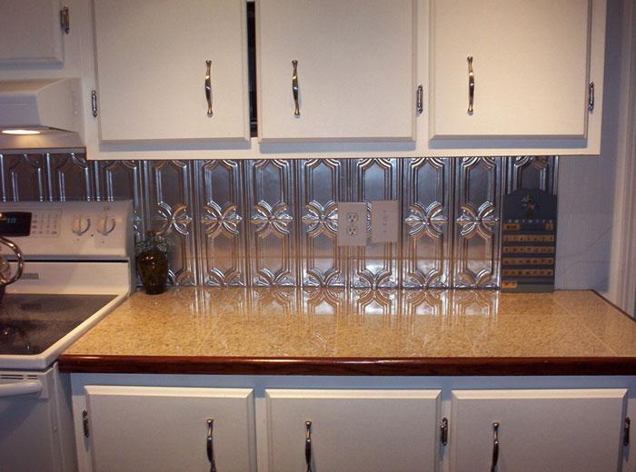 Peppy Pom Pons – Aluminum Backsplash Tile – #0618 - Clear Coated