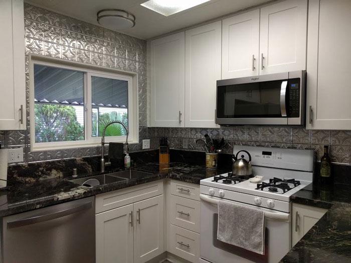 Princess Victoria – Aluminum Backsplash Tile – #0604 - Mill Finish