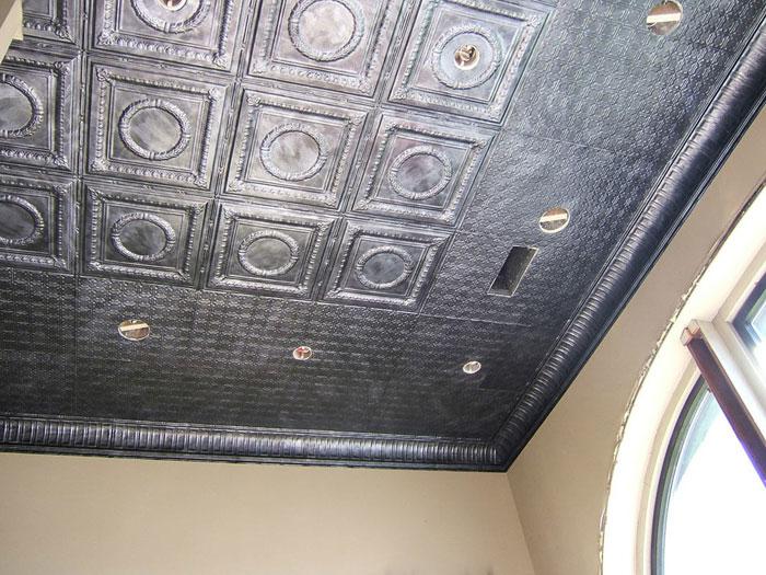 Romanesque - Aluminum Ceiling Tile - #2407 - Antique Pewter
