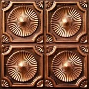 106 Antique Copper - Faux Tin Ceiling Tiles