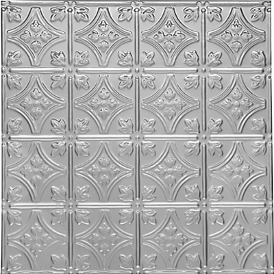 0604 Princess Victoria is a metal panel that can be used on walls or ceilings. Comies in 75 finishes.