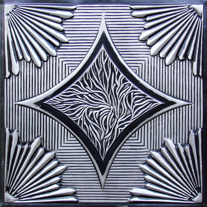 Our 201 Sunset Boulevard Faux Tin Drop-In Tile Is a Great Example of Art Deco