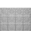 Tiny image of a backsplash pattern 0604 in Clear Coated Alumium finish.