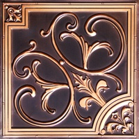 3D ceiling tile made of PVC in Antique Copper.