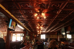 Breens Tavern in Rockledge, Pennsylvania has a beautiful copper ceiling now.