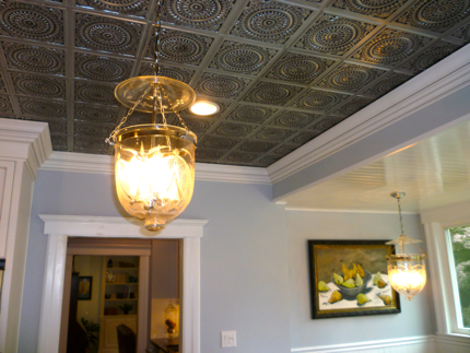GreenRose Fine Homes has completed a remodel with our faux tin ceiling tiles in New Jersey.