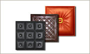Collage of 3 Faux leather tiles.