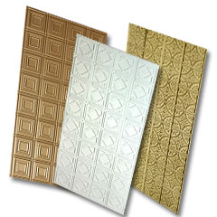 Collage of 3 faux tin ceiling panels