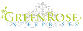 Clean and creative logo of a GreenRose, Victorian homes rehabs in New Jersey
