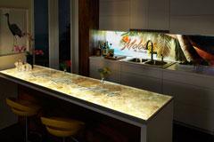 Lumisplash Laminates, Beige Marble & Molokai Graphic