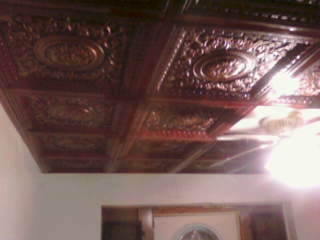 VC02 Rosewood Antique Copper Faux Tin Ceiling Tiles