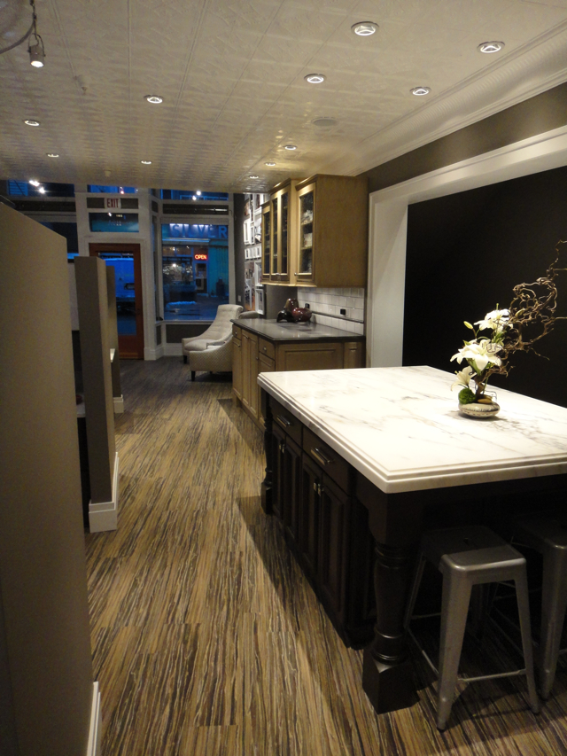 White Aluminum Ceiling Tiles Installed in Juneau Alaska installed by Bauer/Clifton Interiors