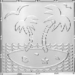 2481 Tin Magnet Seating Board Tile - ISLAND OASIS