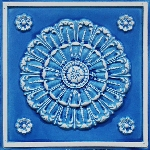 151 Blue Sand Stone Faux Tin Ceiling Tile