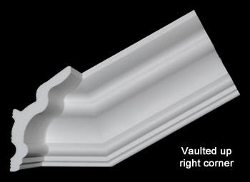 Pre-Cut Vaulted DIY Crown Molding Corner