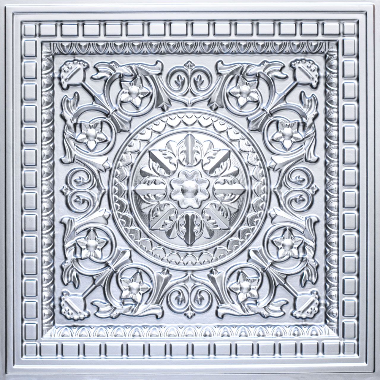 Da Vinci - Faux Tin - Coffered Ceiling Tile - Drop in - 24 in x 24 in - #215