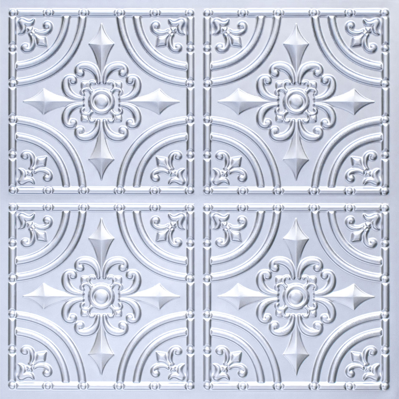 Wrought Iron - Faux Tin Ceiling Tile - Glue up - 24 in x 24 in - #205