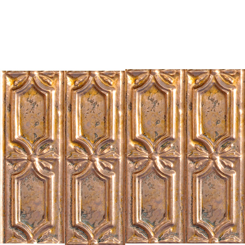 Peppy Pom Pons - Copper Backsplash Tile - Vertical - #0618