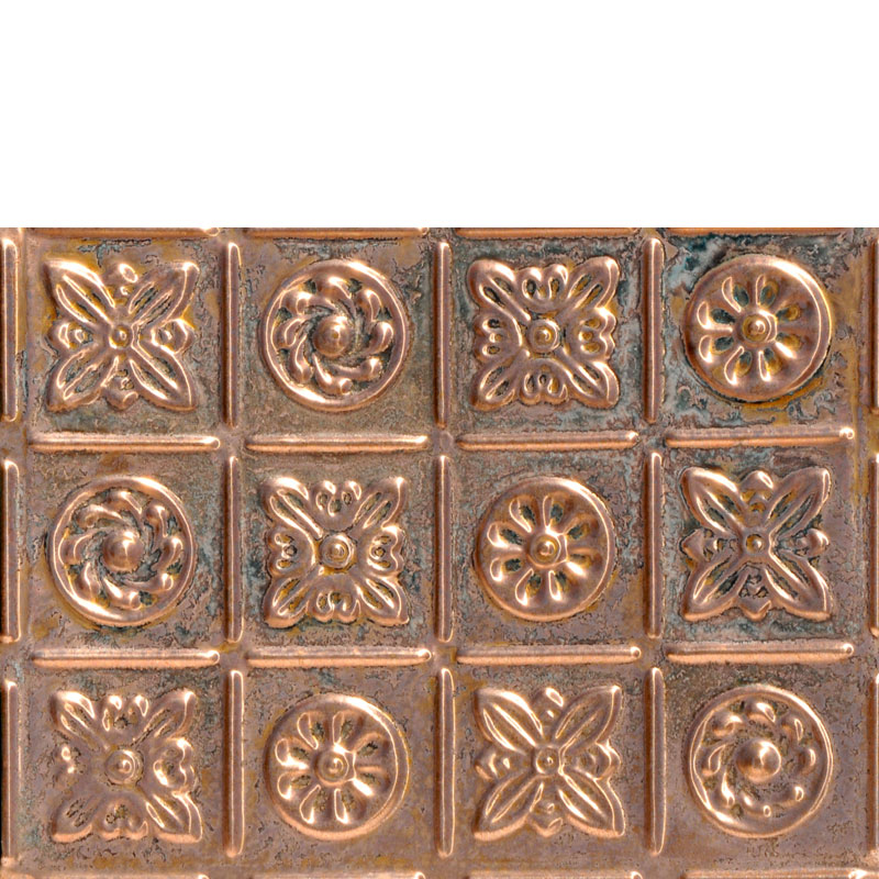 Pinwheel - Copper Backsplash Tile - #0613