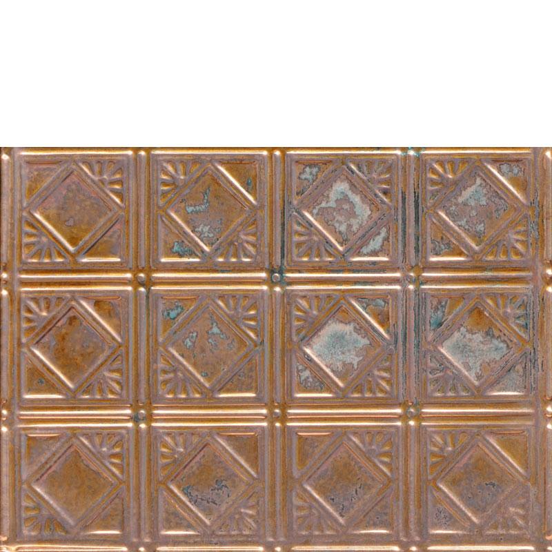 Diamondback Squares - Copper Backsplash Tile - #0603