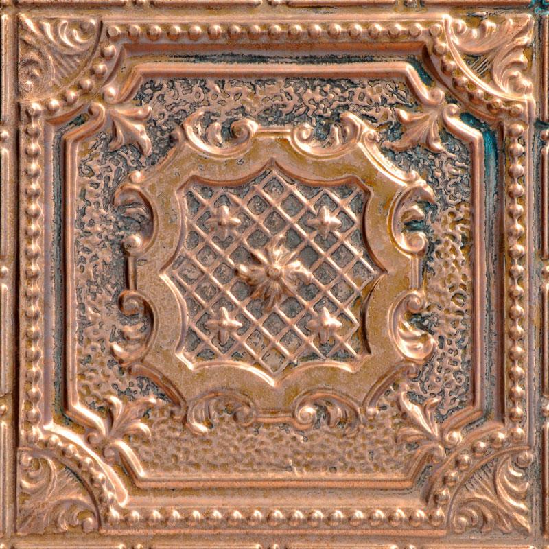 Elizabethan Shield - Copper Ceiling Tile - 24 in x 24 in - #2421
