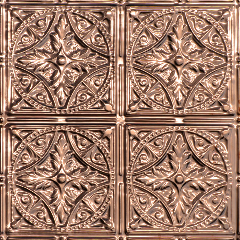 Compass - Copper Ceiling Tile - 24 in x 24 in - #1222