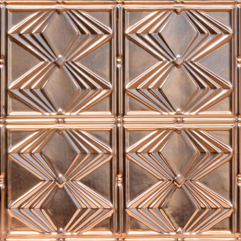 Deco Diamonds - Copper Ceiling Tile - #1220