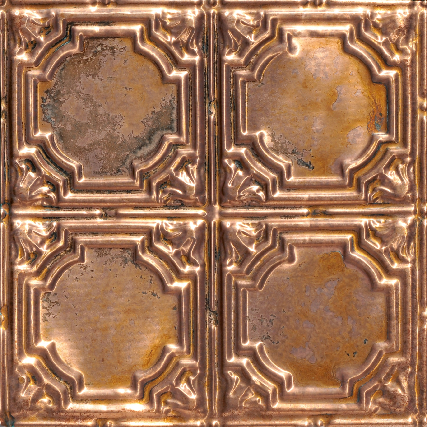 Stained Glass - Copper Ceiling Tile - #1207
