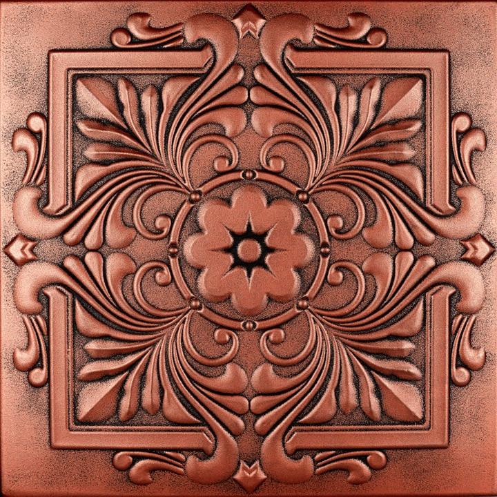 Victorian Glue-up Styrofoam Ceiling Tile 20 in x 20 in - #R14
