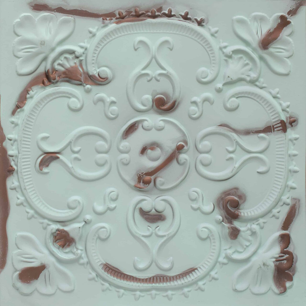 Alhambra - Faux Tin Ceiling Tile - 24 in x 24 in - #217