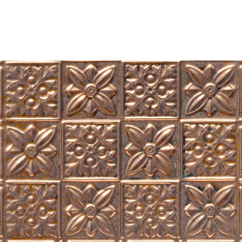 Flower Power - Copper Backsplash Tile - #0612