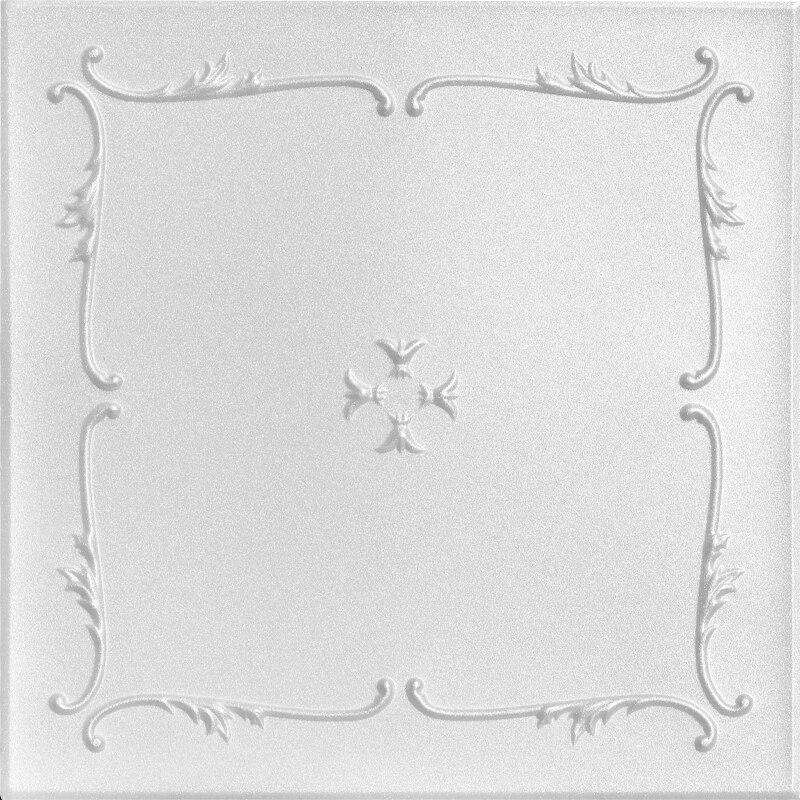 Spring Buds Glue-up Styrofoam Ceiling Tile 20 in x 20 in - #R 05