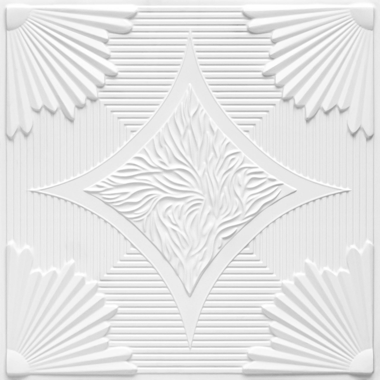 Sunset Boulevard - Faux Tin Ceiling Tile - 24 in x 24 in - #201