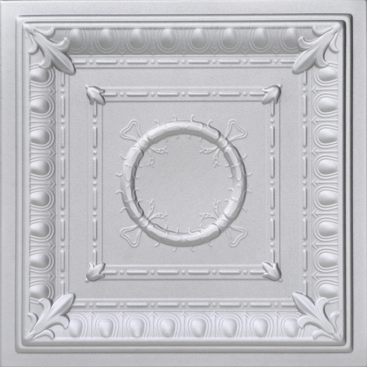 Romanesque Wreath Glue-up Styrofoam Ceiling Tile 20 in x 20 in - #R 47
