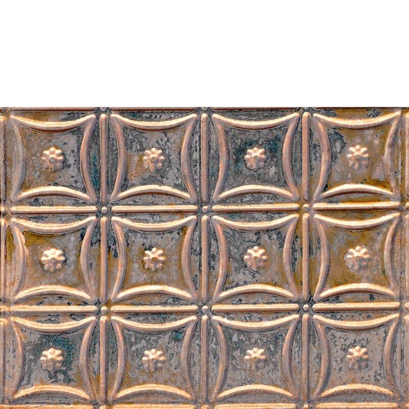 Delicate Daisies - Copper Backsplash Tile - #0607