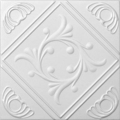 Diamond Wreath Glue-up Styrofoam Ceiling Tile 20 in x 20 in - #R02