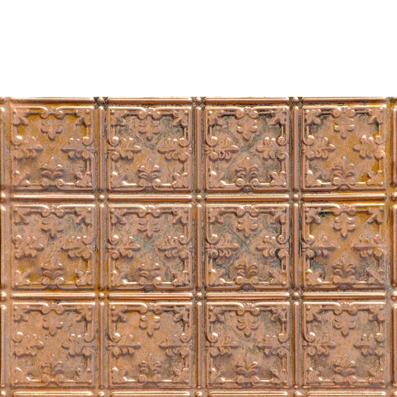 Mini Fleur de Lis - Copper Backsplash Tile - #0605