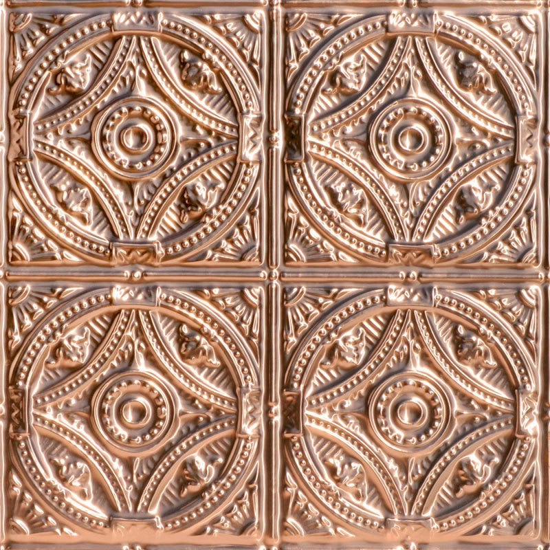 Fountains at Versailles - Copper Ceiling Tile - 24 in x 24 in - #1225