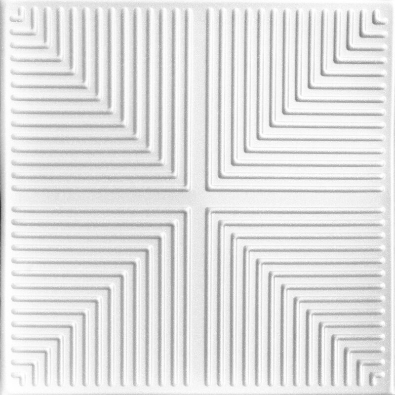 Pyramid Illusion Glue-up Styrofoam Ceiling Tile 20 in x 20 in - #R06