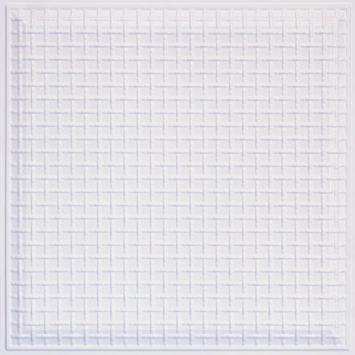 Rustic Lattice - Faux Tin Ceiling Tile - 24 in x 24 in - #248