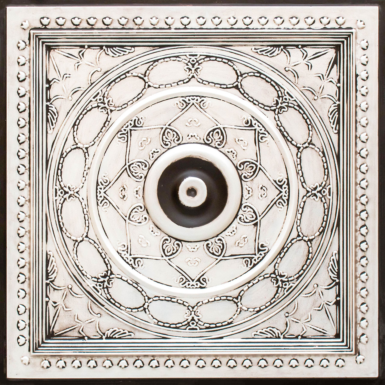 Downtown - Faux Tin Ceiling Tile - 24 in x 24 in - #221