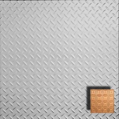 "Diamond Plate - Aluminum Ceiling Tile - 24""x24"" - #2474"