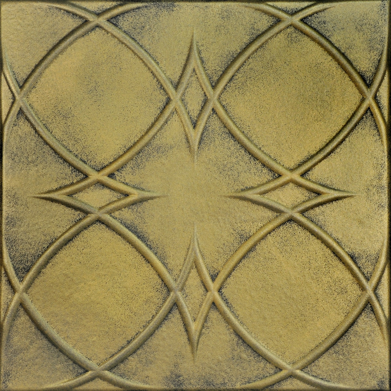 Circles and Stars Glue-up Styrofoam Ceiling Tile 20 in x 20 in - #R82