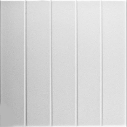 Bead Board Glue-up Styrofoam Ceiling Tile 20 in x 20 in - #R104