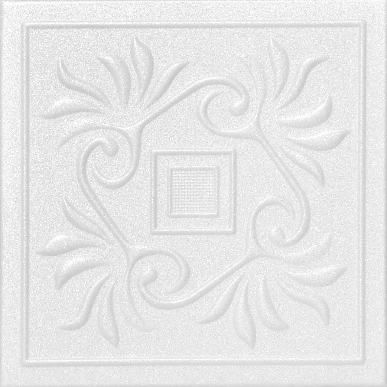 Cockatoos Glue-up Styrofoam Ceiling Tile 20 in x 20 in - #R159