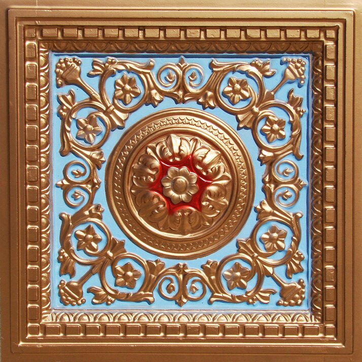 Rhine Valley - Faux Tin - Coffered Ceiling Tiles - Drop In - 24 in x 24 in - #VC 02