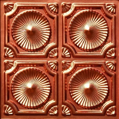 Whirligigs - Faux Tin Ceiling Tile - Glue up - 24 in x 24 in - #106
